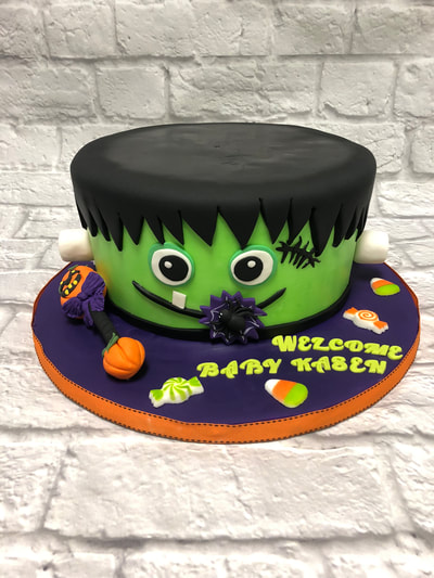 Halloween baby shower cake.