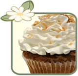 Coconut and butercream cupcake